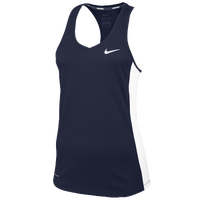 Nike Team Miler Tank II - Women's - Navy / White