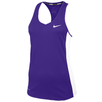 Nike Team Miler Tank II - Women's - Purple / White