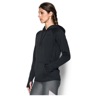 Under Armour Armour Fleece Icon Hoodie - Women's - All Black / Black