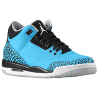 Jordan Retro 3 - Boys' Grade School - Light Blue / White