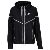 Nike Team NSW Windrunner Jacket - Women's - Black / White