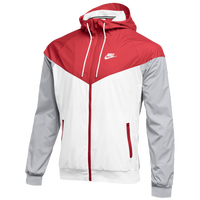 Nike Team NSW Windrunner Jacket - Men's - Red / White