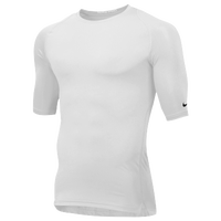 Nike Team Core 1/2 Sleeve Compression Top - Men's - All White / White