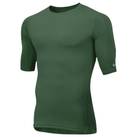 Nike Team Core 1/2 Sleeve Compression Top - Men's - Dark Green / Dark Green