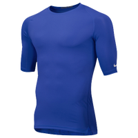Nike Team Core 1/2 Sleeve Compression Top - Men's - Blue / Blue