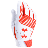 Under Armour Clean-up Batting Gloves - Men's - Orange / White