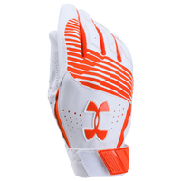 Under Armour Clean-up Batting Gloves - Youth - Orange / White