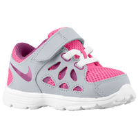 Nike Dual Fusion Run 2 - Girls' Toddler - Grey / Pink