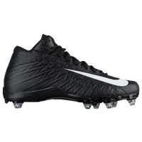 Nike Alpha Menace Varsity Mid D - Men's - Black / White