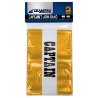 Champro Captain's Arm Bands - Yellow / White