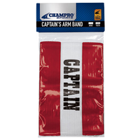 Champro Captain's Arm Bands - Red / White