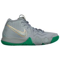 Nike Kyrie 4 - Boys' Grade School -  Kyrie Irving - Grey / Green