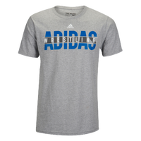 adidas Wrestling T-Shirt - Men's - Grey / Blue