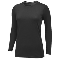 Nike Team Core LS Tee - Women's - All Black / Black