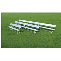Fisher Athletic Powder Coated Benches With Backrest