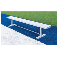 Fisher Athletic Team Aluminum Bench Without Backrest