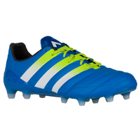 adidas ACE 16.1 FG/AG Leather - Men's - Blue / Light Green