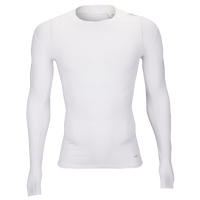 adidas Techfit Compression Long Sleeve Top - Men's - All White / White
