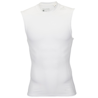 adidas Techfit Compression Sleeveless Top - Men's - All White / White