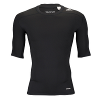 adidas Techfit Compression Half-Sleeve Top - Men's - Black / Black