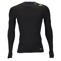 adidas Techfit Compression Long Sleeve Top - Men's - Black / Black