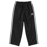 adidas Tricot Pants - Boys' Preschool - Black / White
