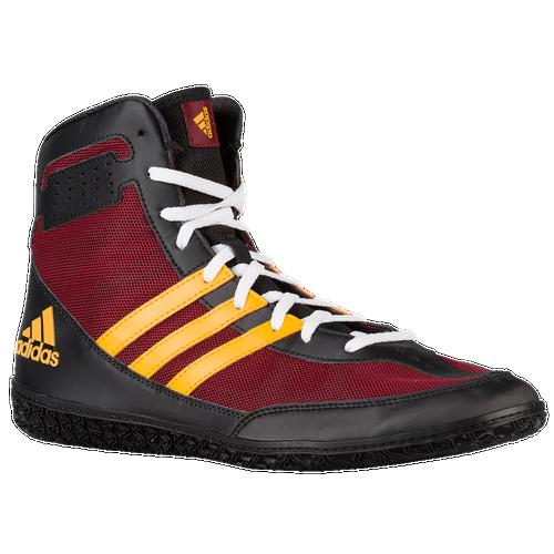 adidas Mat Wizard - Men's - Wrestling - Shoes - Burgundy/Gold/Black