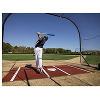 ProMounds Lined Batting Mat Pro - Brown / White