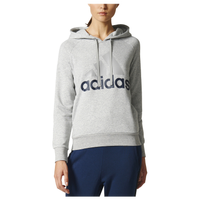 adidas Athletics Linear Logo Hoodie - Women's - Grey / Navy