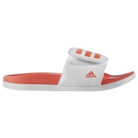 adidas Adilette - Girls' Grade School - White / Orange