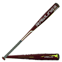 Rawlings Velo BBCOR Baseball Bat -3 - Men's - Red / Black