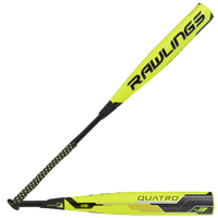 Rawlings Quatro BBCOR Baseball Bat - Men's - Light Green / Black