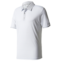 adidas Climachill Tonal Stripe Golf Polo - Men's - Grey / White