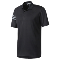 adidas Climacool 3-Stripes Golf Polo - Men's - Black / Grey