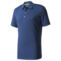 adidas Climachill Tonal Stripe Golf Polo - Men's - Blue / Navy