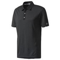 adidas Climachill Tonal Stripe Golf Polo - Men's - Black / Grey