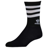 adidas Originals Trefoil Roller Crew Socks - Women's - Black / White