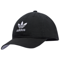 adidas Originals Relaxed Strapback Hat - Women's - Black / White