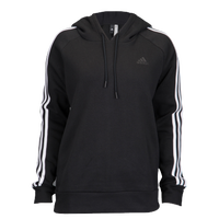 adidas Athletics 3-Stripes Cotton Hoodie - Women's - Black / White