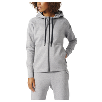 adidas Athletics Stadium Full Zip Hoodie - Women's - Grey / Grey
