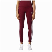 adidas Originals 3-Stripes Leggings - Women's - Red / White