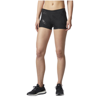 "adidas Three Stripe Life Embossed 3"" Shorts - Women's - All Black / Black"