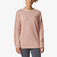 adidas Originals Tubular Chicago Raw Edge Sweatshirt - Women's - Pink / Pink