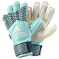 adidas Jr. Fingersave GK Gloves - Grade School - Aqua / Off-White