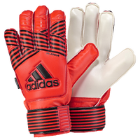 adidas Jr. Fingersave GK Gloves - Grade School - Red / Orange
