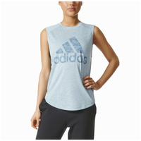 adidas Athletics Winners Sleeveless T-Shirt - Women's - Aqua / Aqua