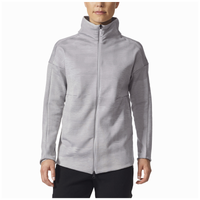 adidas Athletics ZNE Pulse Long Jacquard Cover-Up - Women's - Grey / Grey