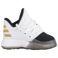 adidas Harden Vol. 1 - Boys' Toddler -  James Harden - White / Black