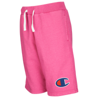 Champion French Terry Shorts - Girls' Grade School - Pink / Pink