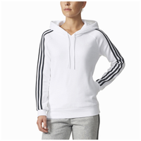 adidas Athletics 3-Stripes Cotton Hoodie - Women's - White / Black